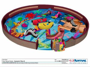 Cary Towne Center indoor playground rendering