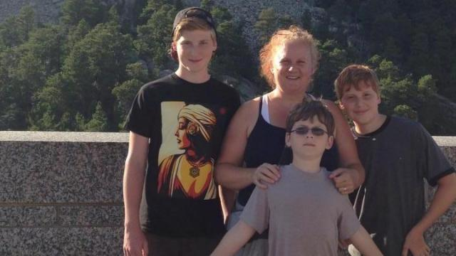 The Hohan family of Hope Mills, NC at Mt Rushmore