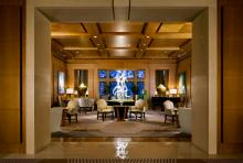 Afternoon takes place in the hotel's lobby lounge.