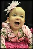 Taylor Louise, second place winner in the 0 to 12 month category of Go Ask Mom's Cutest Baby Contest