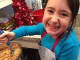 Chef Hannah in the Flour Power Kids Cooking Studio