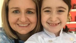 Susan Caldwell of Flour Power Kids Cooking Studio with Chef Hannah
