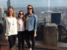 Amanda with her daughters in the Big Apple.