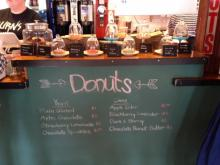 The doughnut selection at the Durham business on a recent weekday.