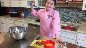 Chef Hannah at Flour Power Kids Cooking Studio