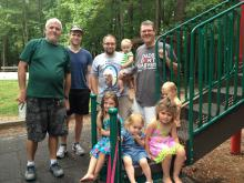 A small part of the group that meets regularly at parks and elsewhere.
