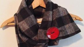 The Vintage Bee features accessories and scarves, including this big button scarf