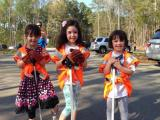 Kids take part in a litter sweep in Cary
