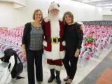 Santa's helpers Jenn Nowalk and Ashley Wilson of the Triangle Spokes Group