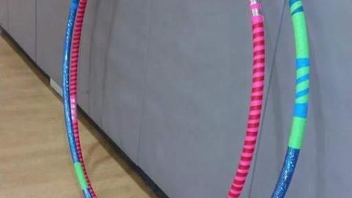 Handmade hula hoops from Pickle Mamas