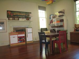 Uncluttered playroom