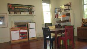 Uncluttered playroom