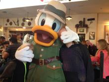 At The Tusker House in Animal Kingdom with Donald Duck.