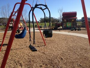 Parent-child swing at Knightdale Station Park