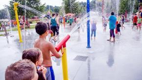 Hill Ridge Farms' splash pad