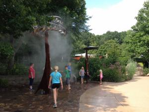 Misting stations are found throughout the zoo.