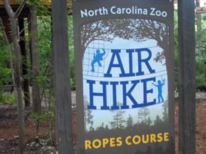 Air Hike at the N.C. Zoo