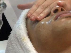 Joshua West said his skin is healthier since he got a facial.