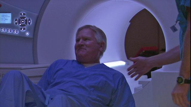 Roger Judd uses at an open-bore MRI machine at Raleigh Radiology that allows him to overcome his claustrophobia.
