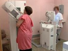 A patient undergoes a mammogram. (Image from JAMA)