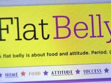A screenshot of the Flat Belly Diet Web site.