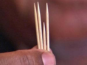 A new study shows that using toothpicks, instead of needles, during acupuncture can help the Americans who spend $37 billion a year to relieve back pain.