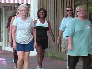 People take part in Fit-Tastic, a 12-week training and wellness program.