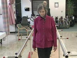 Loretta Slover takes part in a study about chronic pain and falls.