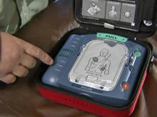 AED device saved Durham man's life