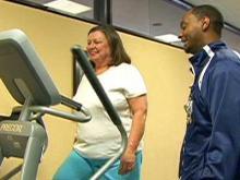 Woman loses weight in Duke program