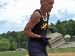 73-year-old Sue Pfuetze, a grandmother and retired nurse, runs marathons and is a boot camp regular.