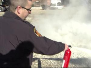 A working fire extinguisher and a practiced user can be a lifesaver in the home.