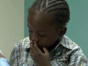 Caleb Davis, 6, has sickle cell anemia, but he doesn't allow it to stop him.