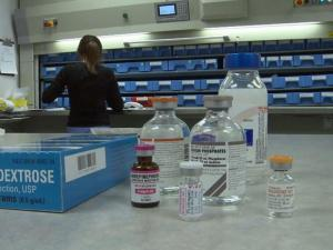 Hospitals have shortages of injectible or intravenous medications like the pre-filled syringes used to jump-start a heart