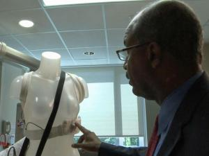 WRAL's Dr. Allen Mask looks at a Zoll LifeVest, a new type of external defibrillator.