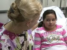 Sara Katherine Sill gets a once-a-month treatment at Duke Children's Hospital for a rare eye condition.