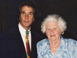 Henry Winkler and his mother, who suffered from upper limb spasticity following a stroke