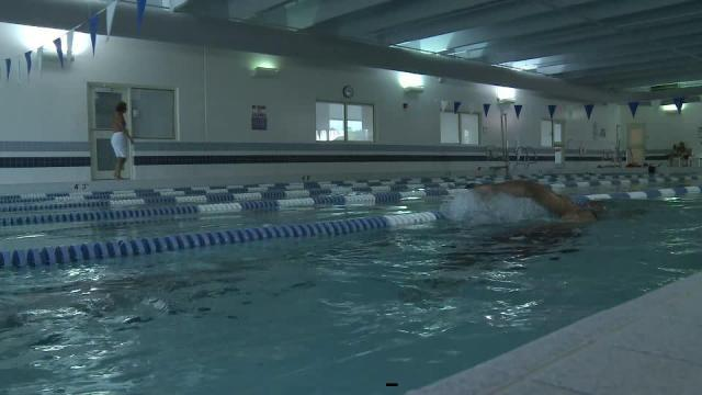 Older swimmers work out at Rex Wellness Center in Wakefield.