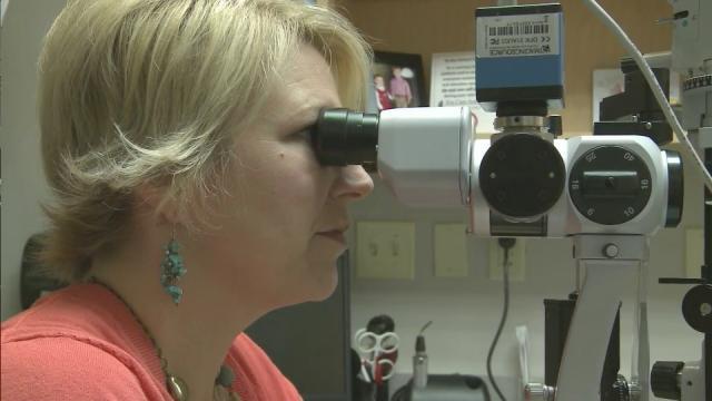Optometrist Amanda Steele