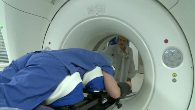 Duke gets world's first ceiling-mounted CT scanner