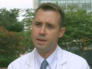 Dr. Billy Fischer, a UNC Hospitals critical care physician, worked with Ebola patients in Guinea last spring.