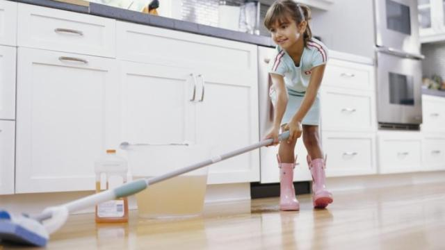 Even young ones can help with spring cleaning.