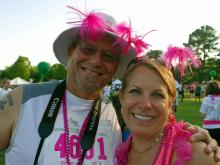 More than 10,000 people registered to run and a million dollars was raised for breast cancer research in the 19th annual Triangle Race for the Cure in Raleigh June 13, 2015.
