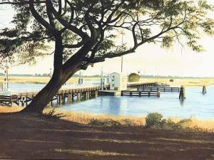 A one-lane pontoon bridge is the gateway to peaceful Sunset Beach, N.C.
