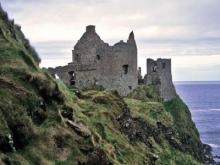 The ruins of Dunluce Castle in Northern Ireland.