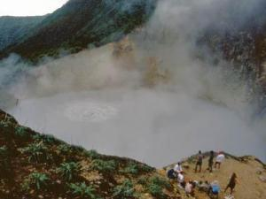 Boiling Lake is the second-largest lake of its kind on Earth