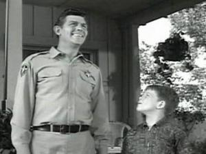 "Andy Griffith was most well-known for his role as Sheriff Andy Taylor in 1960s television show ""The Andy Griffith Show."" Ron Howard played his son, Opie."