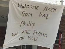 Soldier returns home to Durham after 15 months in Iraq