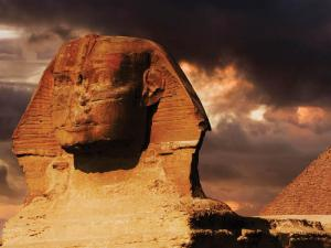 Built in 2650 B.C. from a single piece of stone the Sphinx is 240 feet long, and the base has been continually shored up to keep it from eroding due to underwater springs.