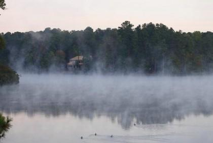 Mist on a Cary lake captured by Irish photographer Andrew  Kelly.